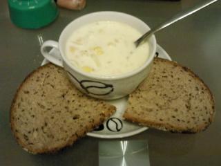 mais knoblauch suppe