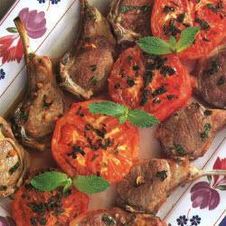 marinierte lammkoteletts mit minze