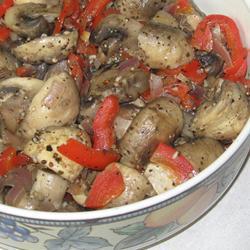 marinierte pilze mit paprika