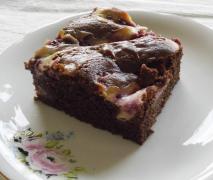 marmorierte brownies mit himbeeren sehr schokolad