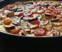 mediterane tomate zucchini quiche