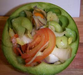 melonen chicoree salat