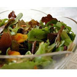mesclun mango salat mit ingwer karotten dressing