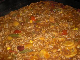 mexikanische hackfleisch gemüsesauce für reis und nudeln