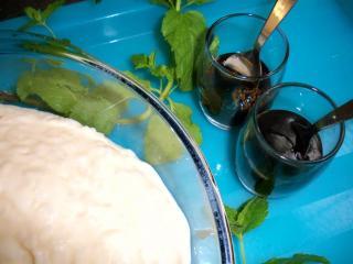 milchreis mit sojamilch und karamellsauce