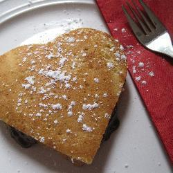 mit schokolade gefüllte pfannkuchen