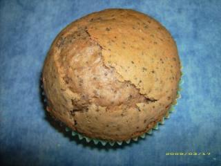 mohn nougat muffin