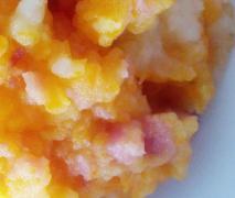möhren kartoffel stampf mit speck