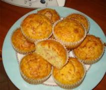 muffin mit schinken u käse