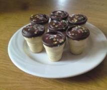 muffins im waffelbecher gebacken