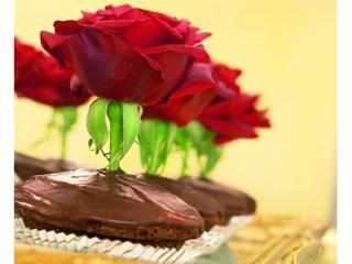 muffins mit rosen