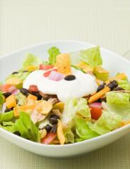 nacho salat mexikanischer schichtsalat vegetarisch