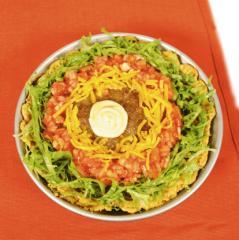 nacho salat mexikanischer schichtsalat