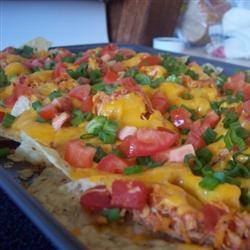 nachos mit hähnchen