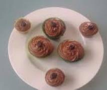 nougat cupcakes mit nougat frosting