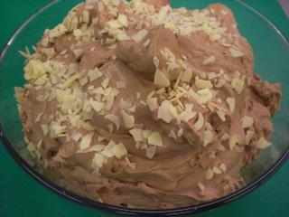 nougatmousse mit weißer schokolade