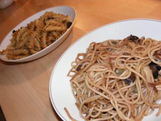nudeln mit oliven kapern und knoblauch extrem schnell