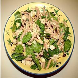 nudelsalat mit grünem spargel hähnchen und speck
