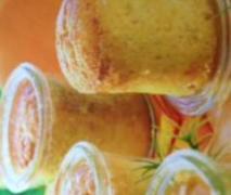 orangen aprikosen kuchen im glas