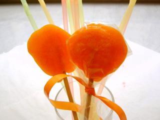 orangen lollis orangen lutscher