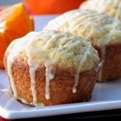 orangen muffins mit mohn
