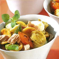 orecchiette salat mit thunfisch und aioli