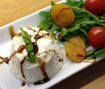 parmesanmousse auf spargel salat