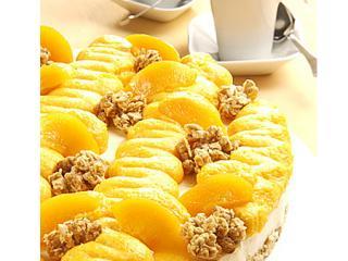 pfirsich knusper torte