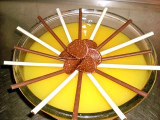 pfirsich schicht dessert