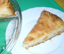 pfirsich zuckeraprikosen kuchen mit milchmädchengl