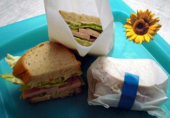 picknick sandwich mit fleischwurst