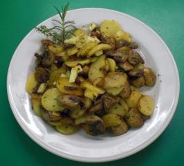 pilzkartoffeln mit käse