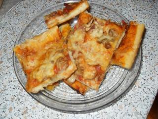 pizza con funghi