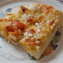 pizza mit butternut kürbis und rosmarin