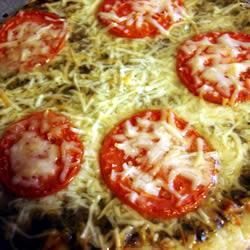 pizza mit ricotta und pesto