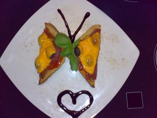 pizza toast amp quot butterfly amp quot