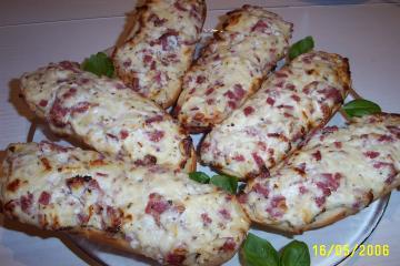 pizzabrötchen mit schmand