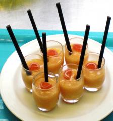 prosecco orangen creme fingerfood