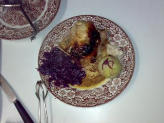 putenoberkeule in sauerkraut im flavorwave oven gegart