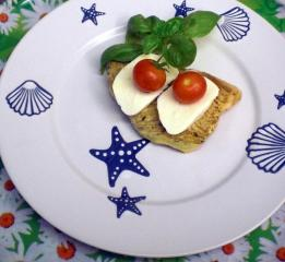 putensteak mit tomate mozzarella zum grillen