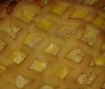 quark apfel kuchen mit teiggitter