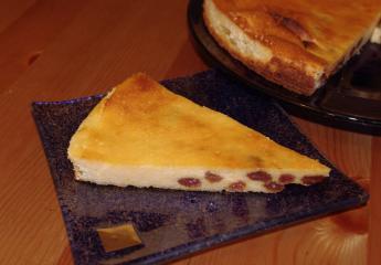 quarkkuchen mit rosinen