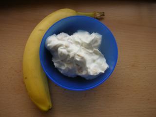 quarkspeise mit bananen