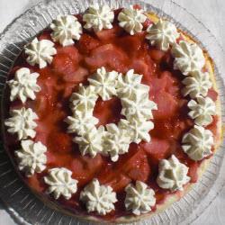 quarktorte mit erdbeeren und rhabarber