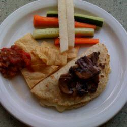 quesadillas mit pilzen