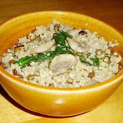 quinoa pilaf mit mangold