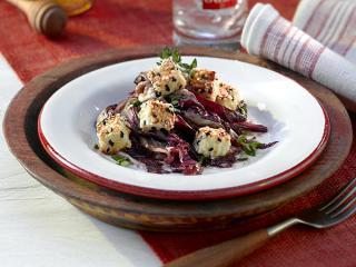 radicchio salat mit feta käse und honig