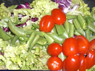 radicchio zuckerschoten salat