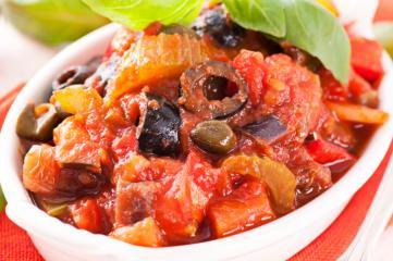 ratatouille salat mit balsamico dressing