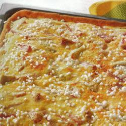 rhabarberkuchen mit schmandguss